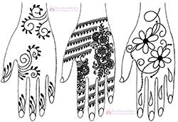 Free henna designs: Valentine Henna Designs, Hearts.