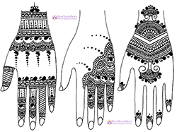 Free henna designs: Beautiful free henna designs in a modern Indian style.
