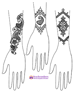 Free henna design on forearms