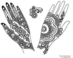 Free Henna Designs: Gulf Style Henna Design