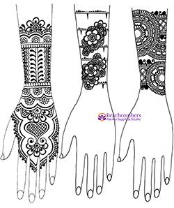 Free henna design on forearms