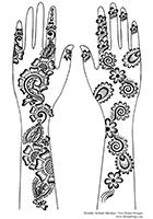 Free henna designs: tradtitional Arabic henna designs.