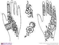 Free henna designs: classic henna designs.