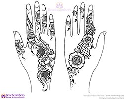 Free henna designs: Party designs sangeet strips.