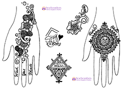 Free henna designs: Corona virus Covid 19 Wash your Hands.