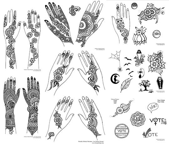 graphic about Printable Henna Designs identified as No cost Henna Downloads and eBooks