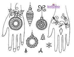 Free henna designs: Holiday Henna Christmas Mehndi Designs.