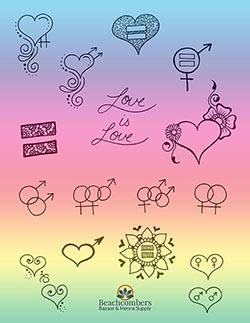 Free henna designs: Pride henna designs.