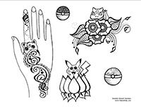 Free Pokemon Henna Designs