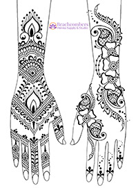 photo relating to Henna Templates Printable identified as No cost Henna Downloads and eBooks