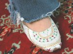 Khussa Indian shoes in size 8, jutti, majori, punjabi shoes, beaded flats