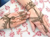 Jewelry style henna done by Jody, Orlando henna tattoo artist