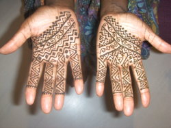 Moroccan style henna hands for Eid in Orlando. Professional henna art for Eid