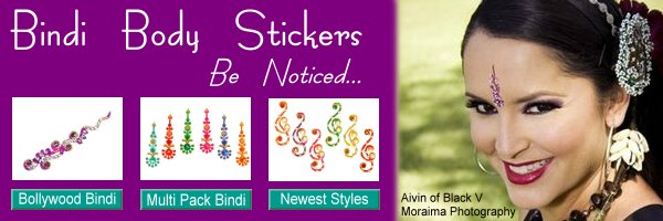 Bindi body stickers, Indian bindi jewelry for everyday or bridal wedding bindis