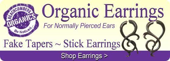 Buy fake tapers and wood earrings online.