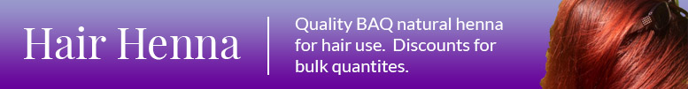 Natural BAQ henna powder for hair. High lawsone content henna is perfect for natural hair