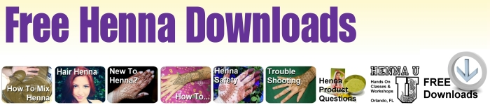 Free henna downloads and mehndi information.