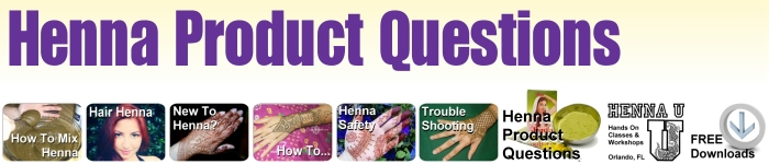 Questionsa bout henna products such as powder or applicator bottles?
