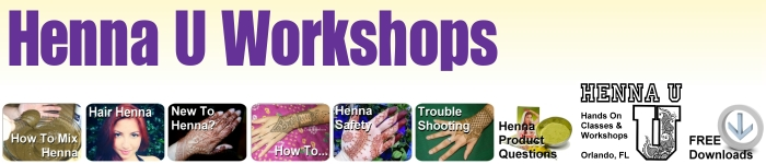 Learn mehndi hands on at henna workshops and classes at Henna U Orlando