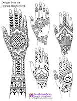 free henna design peacocks and paisley