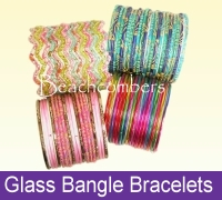 Indian glass bangles are handmade of real glass in traditional and contemporary styles.