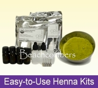 Easy-to-use henna kits with all the henna products and tools you need.