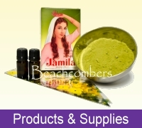 Henna products and supplies, mehndi power, cones, henna paste, and more