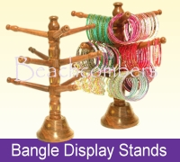 Bracelet display stands for your glass bangle collection are handmade of wood in India.